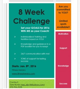 New Year.. New Goals ! Join the 8 Week Challenge !